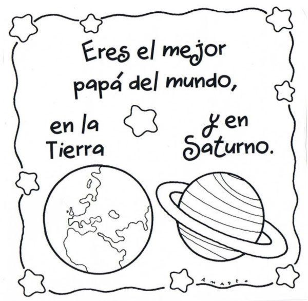 Dibujos para el Día del Padre para colorear e imprimir | Remeras ...