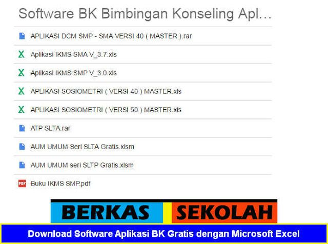 Download Software Aplikasi Bk Gratis Format Microsoft Excel Microsoft Excel Konseling Pendidikan