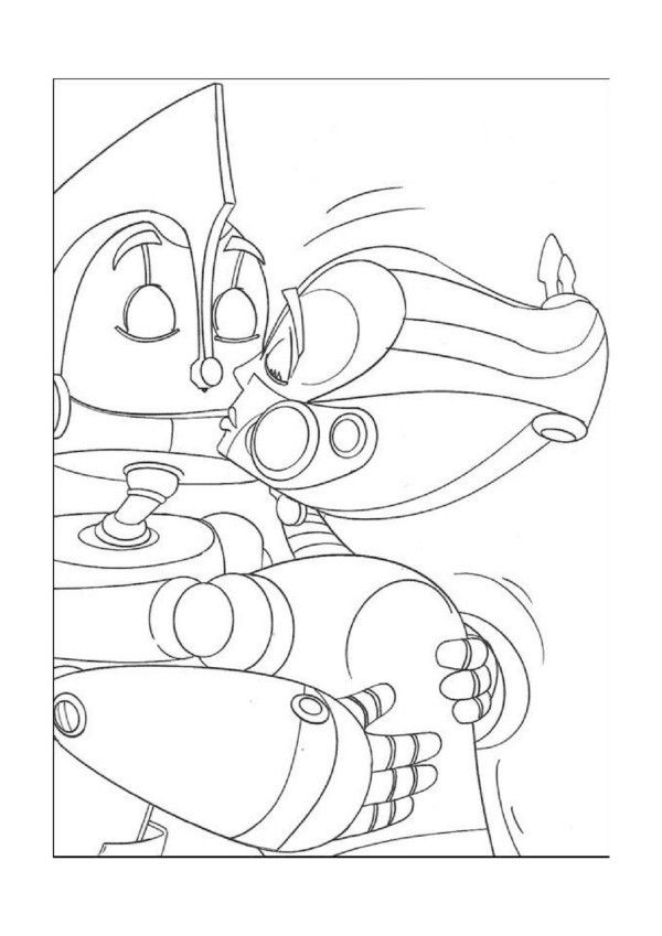 Robots Online Coloring Pages Printable Book For Kids 9