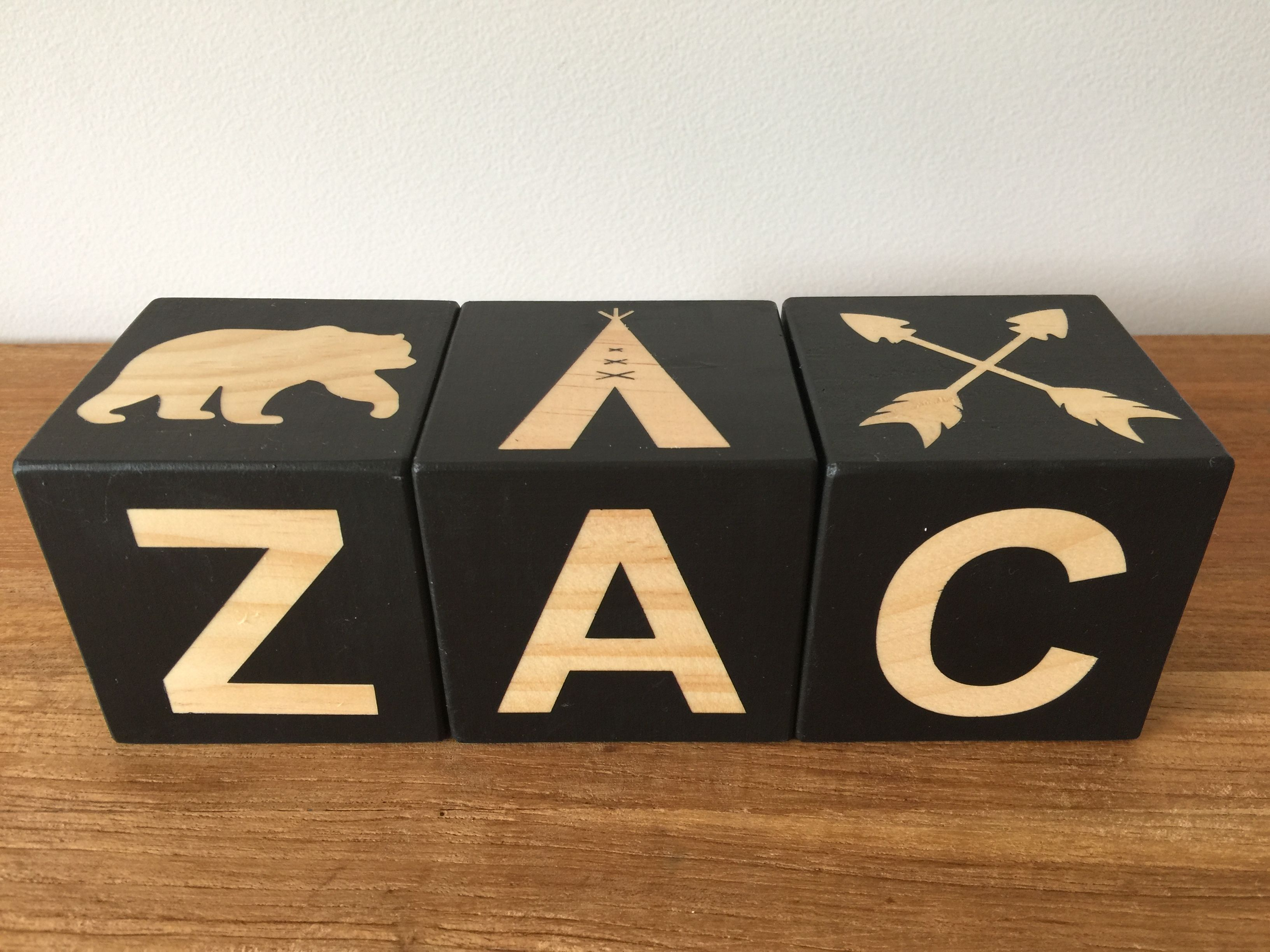 Boho Inspired Letter Blocks For Zac Www Pennylou Au Wooden Decor