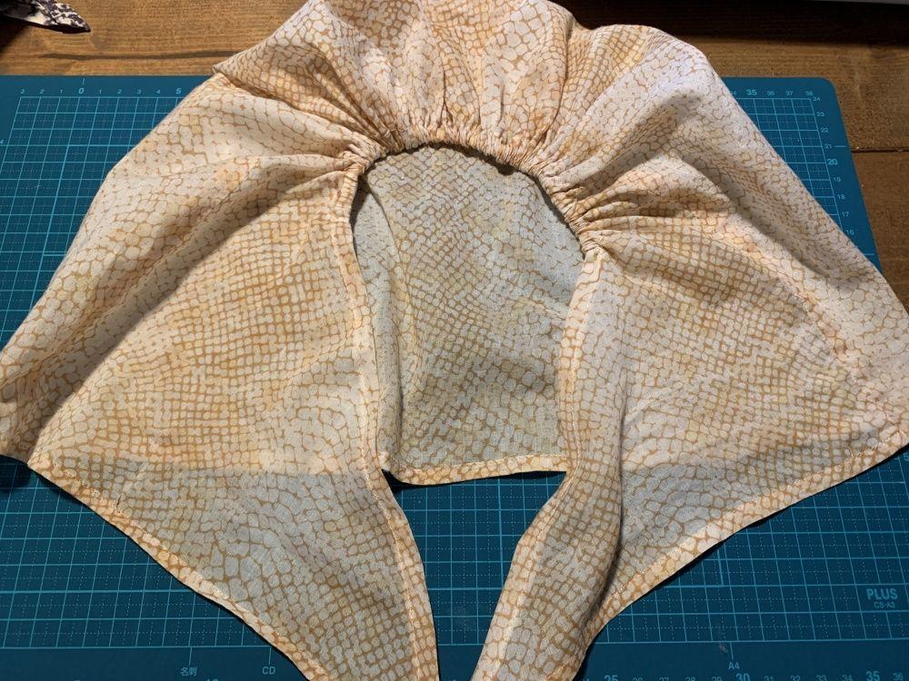 ターバンキャップの作り方 自己流製図あり 極楽ひだまり保育園 ターバン マフラー 作り方 帽子 型紙