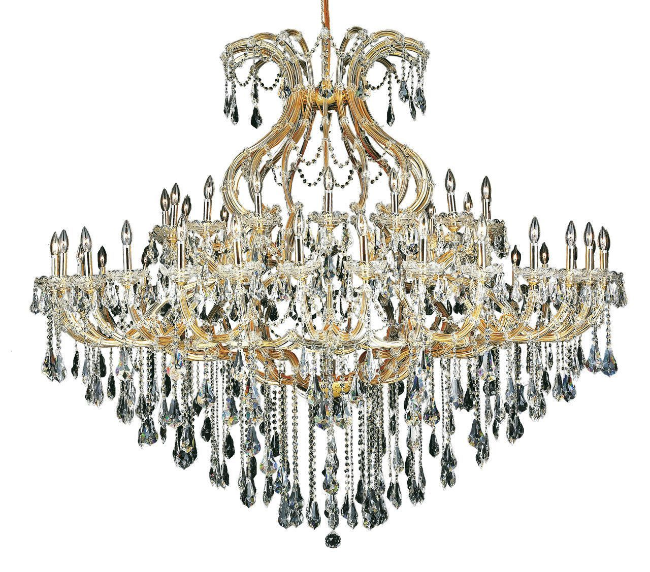 Maria Theresa 49 Light Crystal Clear Chandelier In Gold Finish