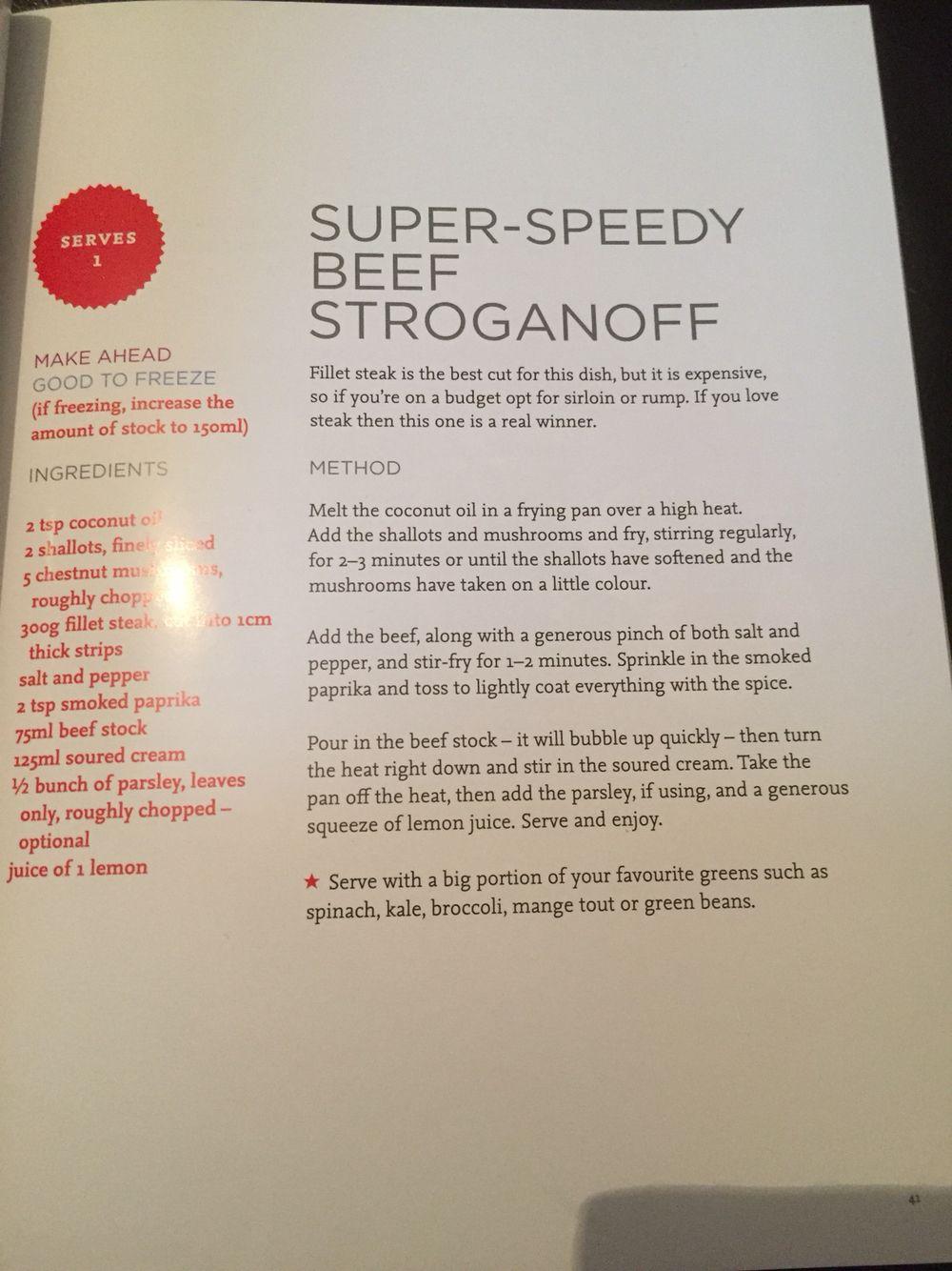 The Body Coach Super Speedy Beef Stroganoff Beef Stroganoff Healthy Stroganoff Slimming World Beef Stroganoff