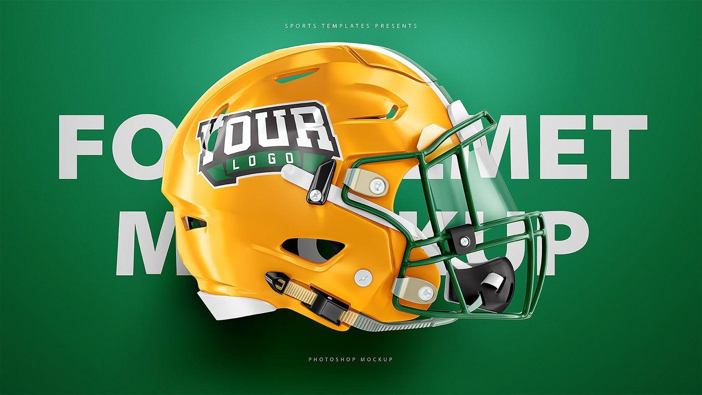Football Helmet Psd Mockup For Schutt Riddell On Behance Football Helmets Football Helmet