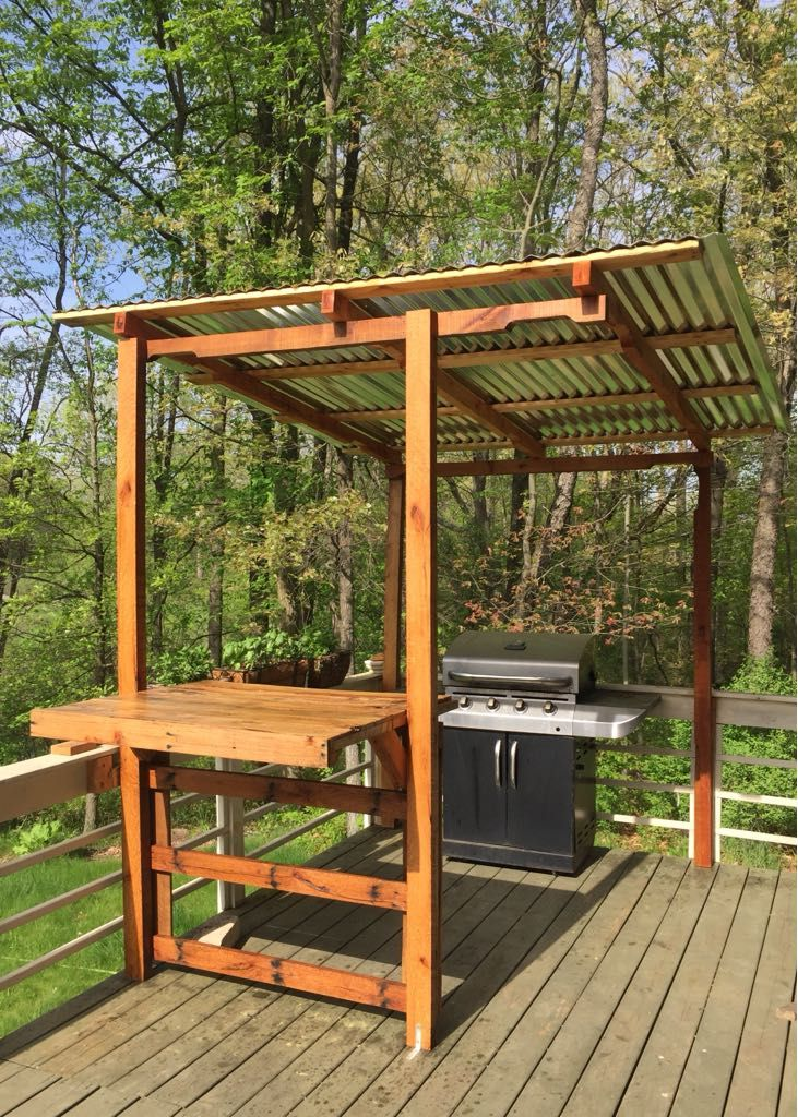 Pergola Made Of 100 Pallet Wood Outdoor Grill Station Outdoor Bbq Area Grill Gazebo