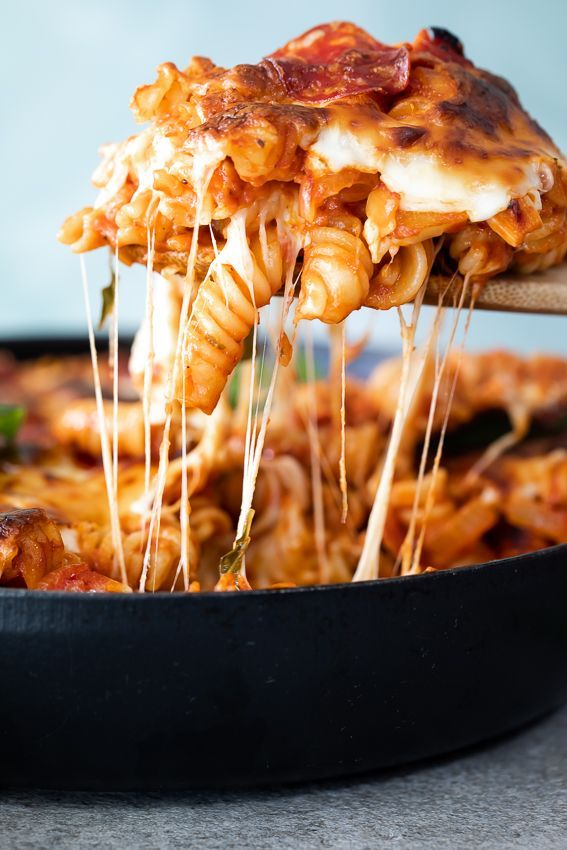 The cheesiest every pizza pasta bake. bake Pizza pasta bake