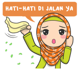 Photo of check out sticker #8286555  in the sticker set Flower Hijab : Daily Talk on chatsticker.com