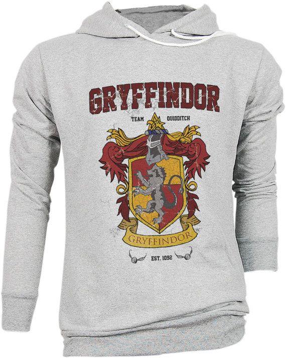 Harry Potter Camiseta Oficial con Escudo del Equipo de Quidditch de Gryffindor para Hombre uIpeVAX