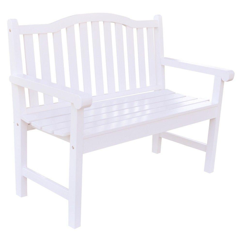 Belfort Garden Bench   White