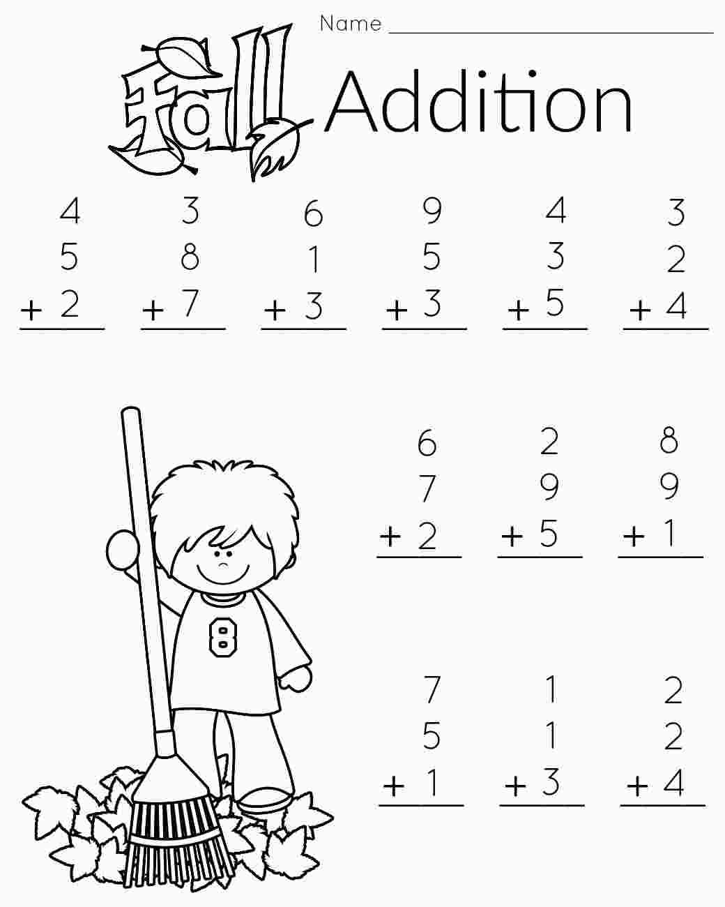 Coloring Math For 1st Graders With Images