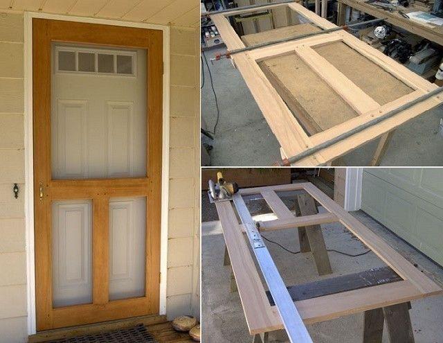 C mo hacer una puerta mosquitero para protegerte de los for Como hacer puertas de madera para entrada principal