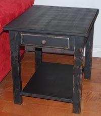 Darling side table from LoveYourShelf.com.  So cute and affordable.  Also different colors available! #homedecor