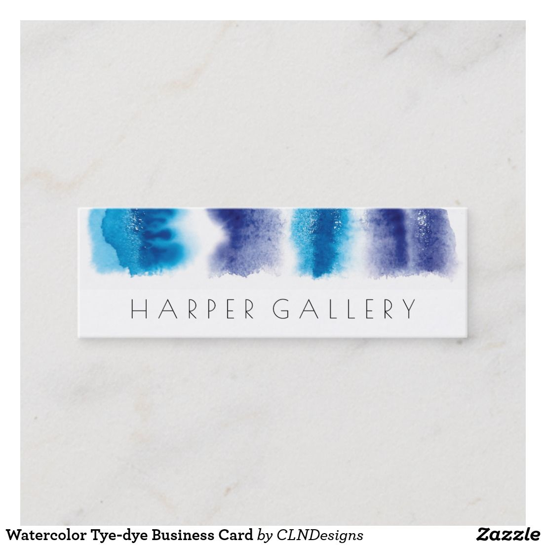Watercolor Tye Dye Business Card Nice Looking Business Card