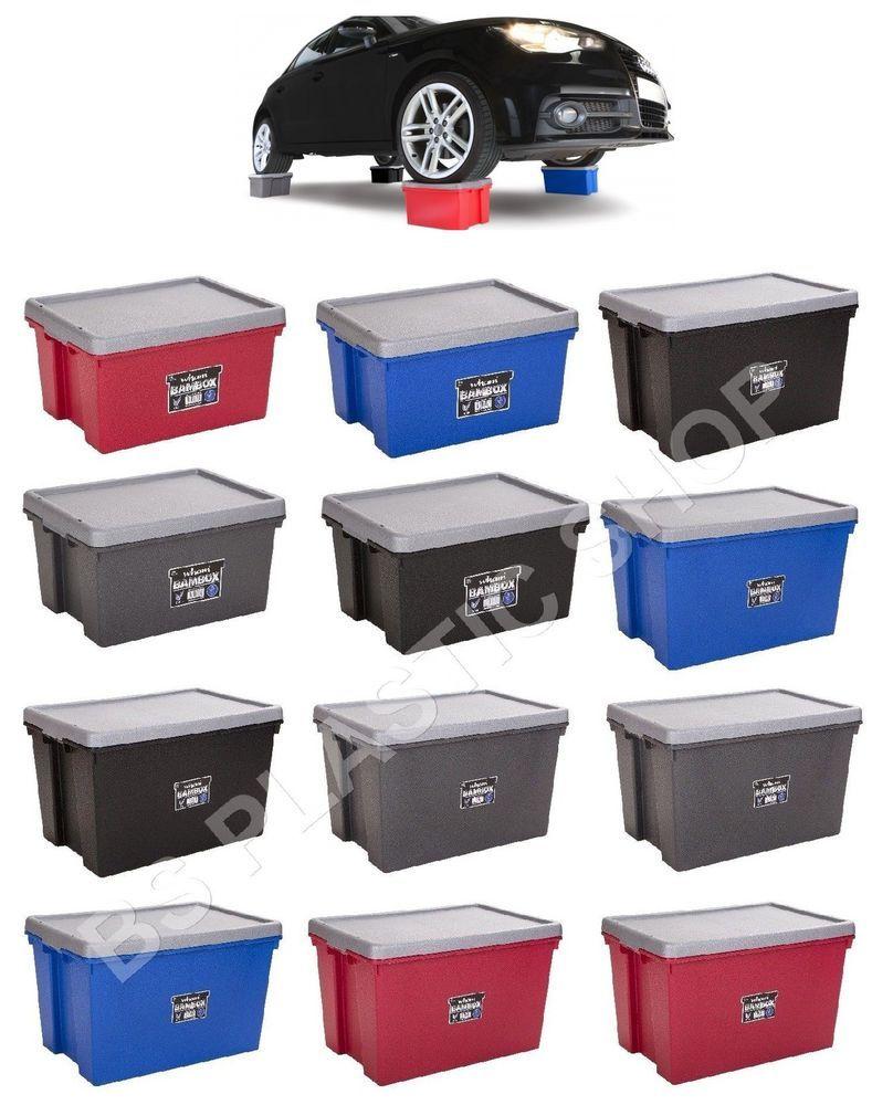 Details about heavy duty storage boxes plastic bam box