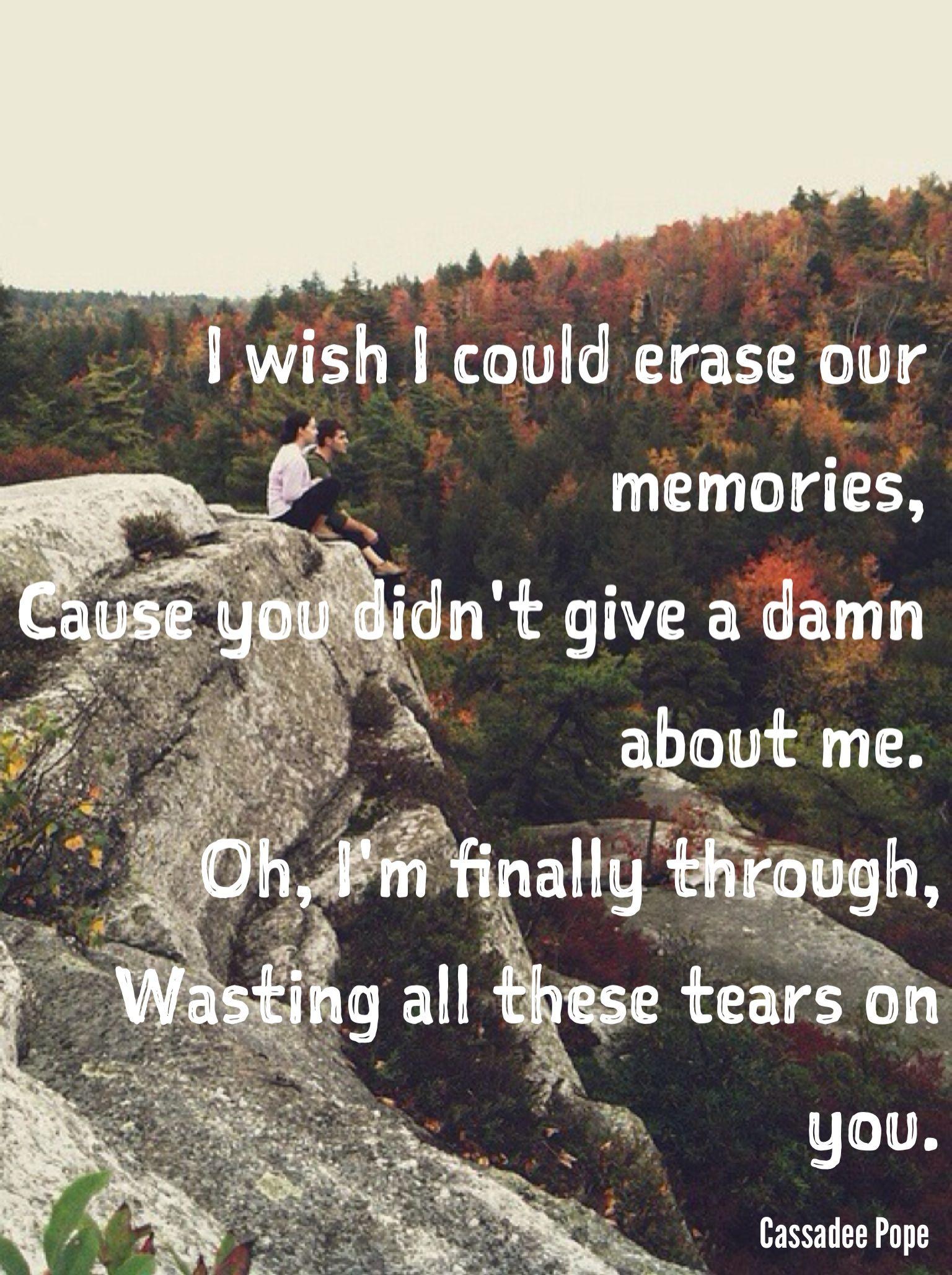 Cassadee Pope Wasting All These Tears Lyrics
