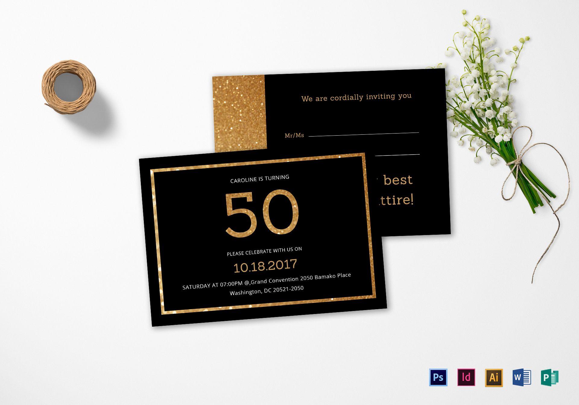 Indesign Birthday Invitation Template  Birthday invitation