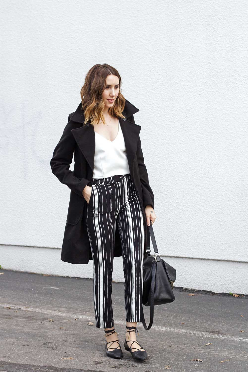 Vertically Stripped Pants