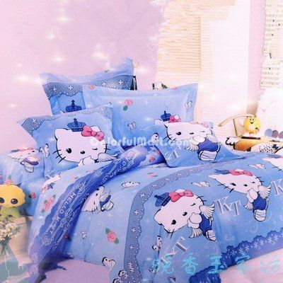 HK |❣| HELLO KITTY Sky Blue Angel Bedding Set