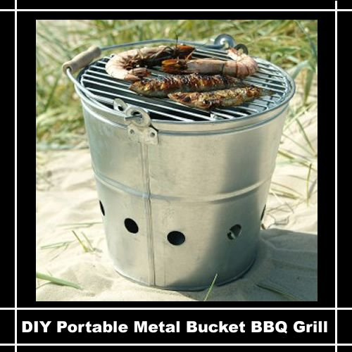 e46a0908eda600 DIY Portable Bucket BBQ Grill...  diy