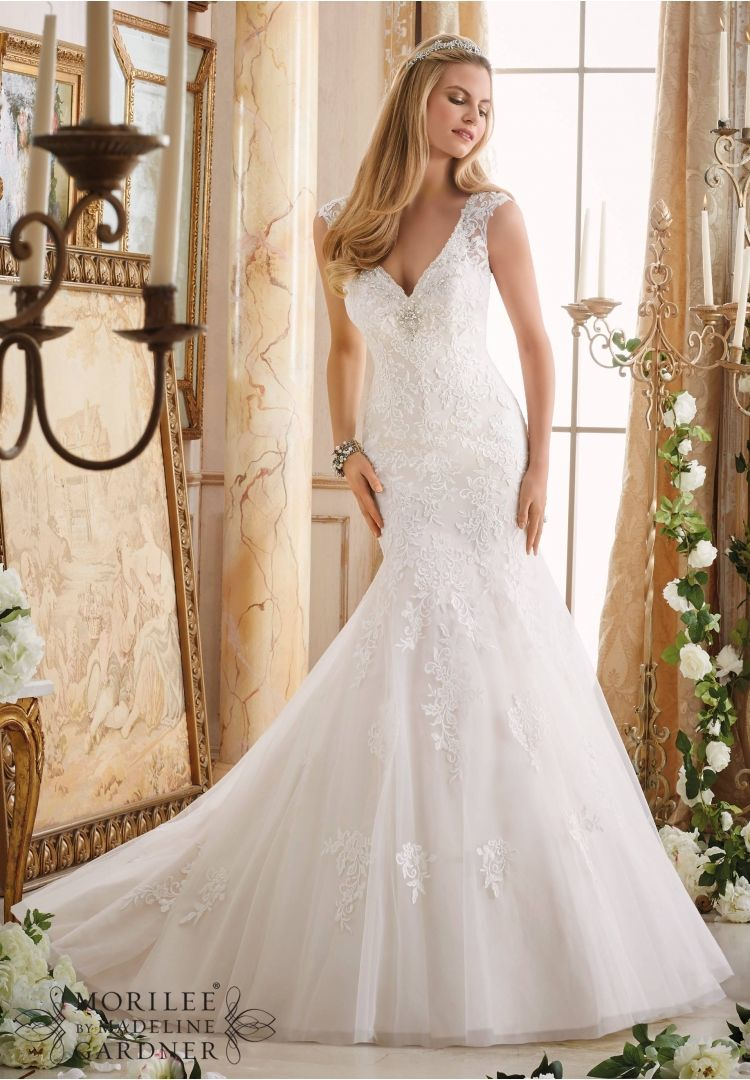 Wedding Dresses And Gowns By Morilee Featuring Embroidered Liques On Tulle Trimmed With Crystal Beading