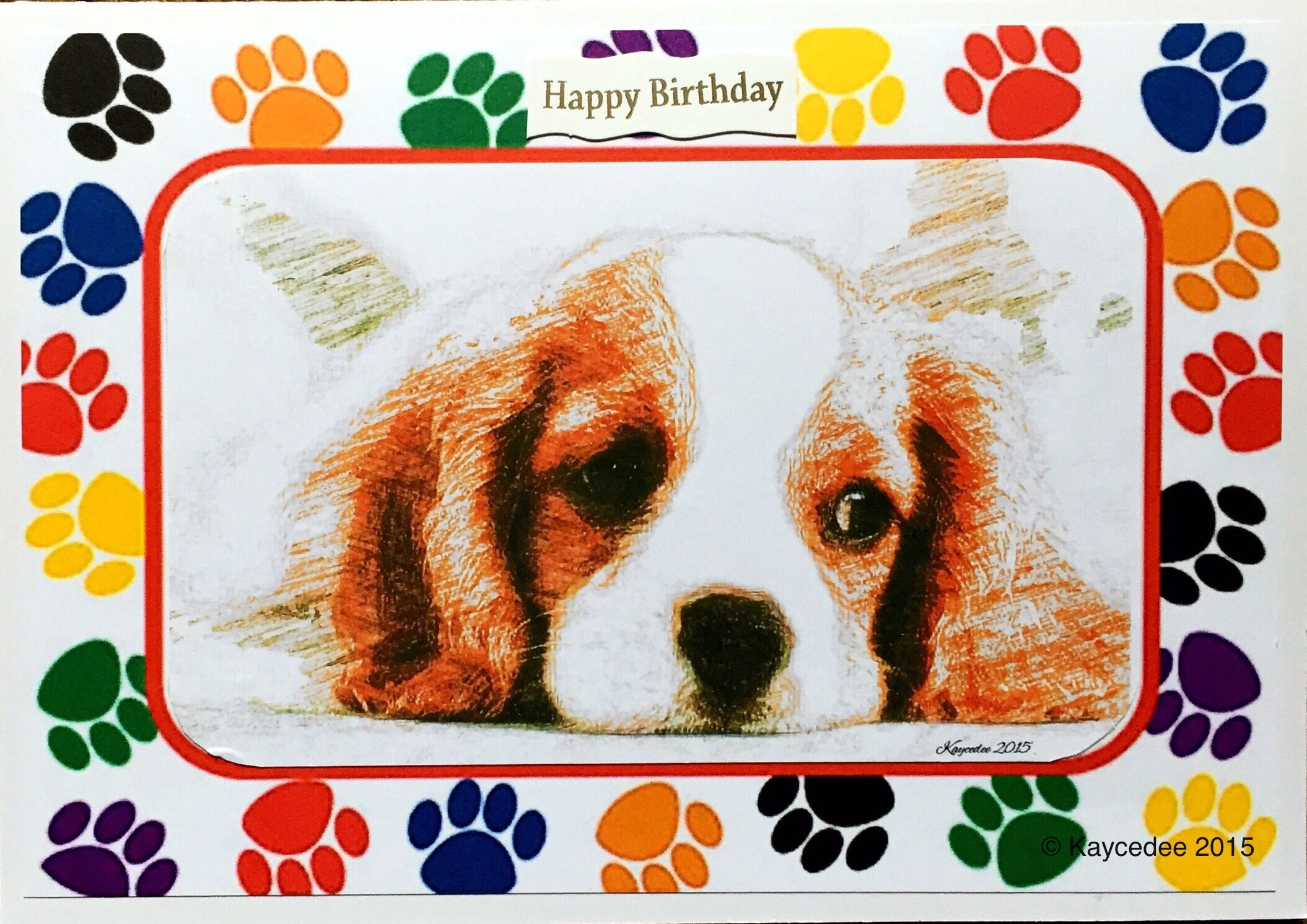 A5 dog themed birthday card greetings cards blue butterfly gems a5 dog themed birthday card bookmarktalkfo Image collections