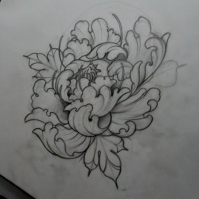 30f39c6c84b8b Neo Traditional Flower Tattoo Designs Neo Japanese Tattoo Tattoo