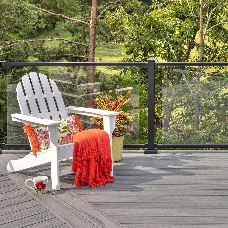 Trex Signature Glass Railing Composite Deck Adirondack Chair