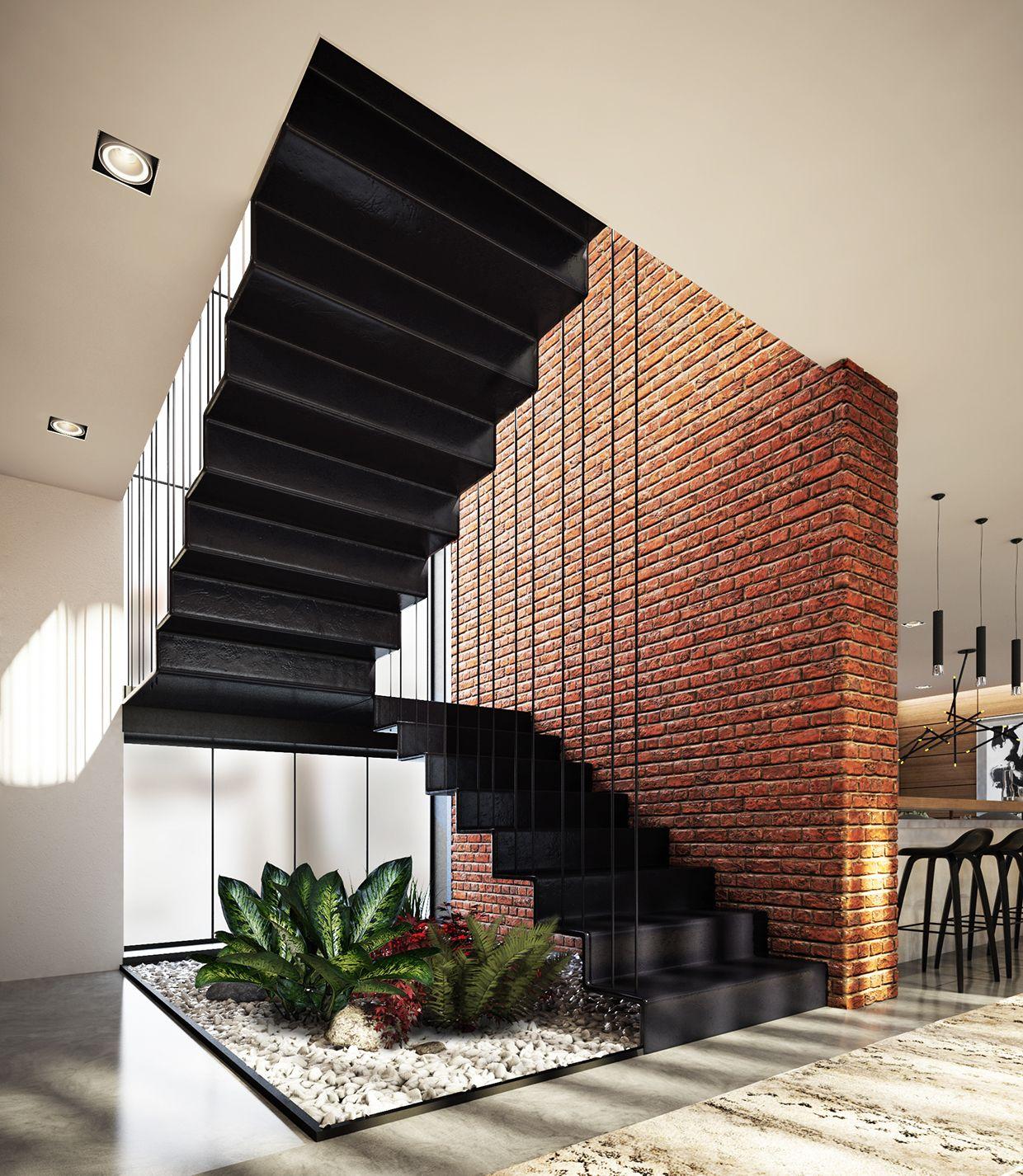 Pin de carlos alberto alvarez becerra en ideas casa bajo for Jardin interior bajo escalera