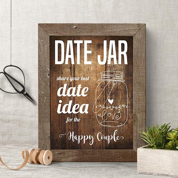 Date Jar Idea Sign And Cards Instant Download Printable