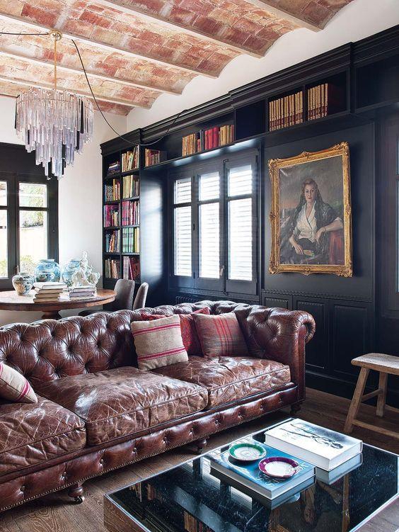 Lord Chesterfield I Presume Interiores De Casa Decoracion De Unas Sofas De Cuero