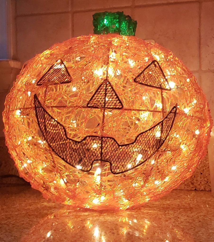 Outdoor Halloween Decorations Michaels: Michaels Stores Twinkling Pumpkin Indoor/outdoor Lighted