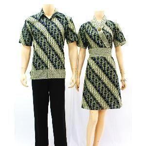 batik couple sarimbit motif parang green  f2cc3e9913