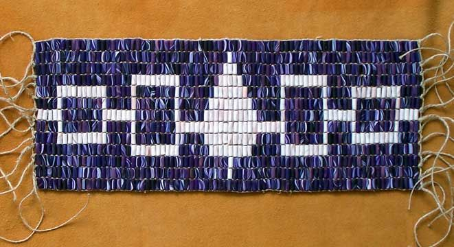 The Hiawatha Belt. The most well known of the wampum belts. Symbol ...