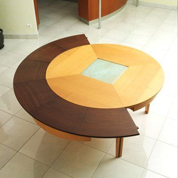 transformer furniture: braun woodline expanding table | expanding