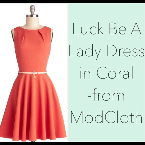 luck be a lady dress in coral mod cloth dresses dresses womens dresses pinterest