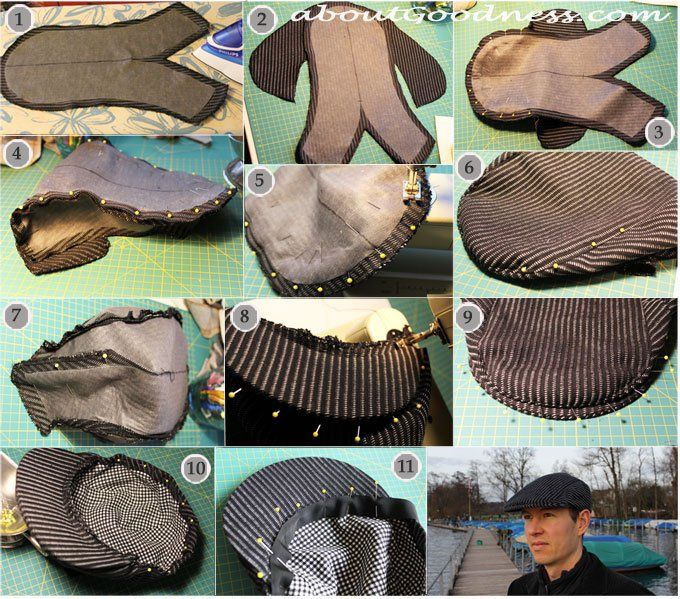 flat cap newsboy gatsby hat DIY tutorial | hračky oblečky ...