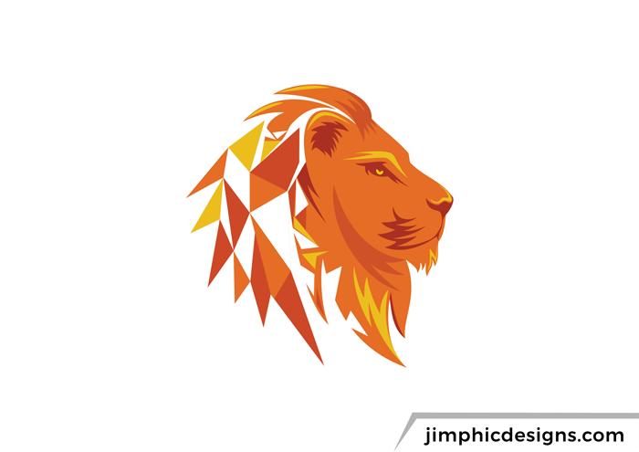 Lion Logo Abstract Lion Fire Art Lion Logo