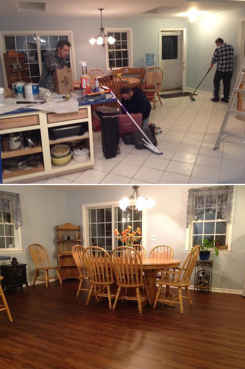 Before and After May's Top Makeovers Modern flooring