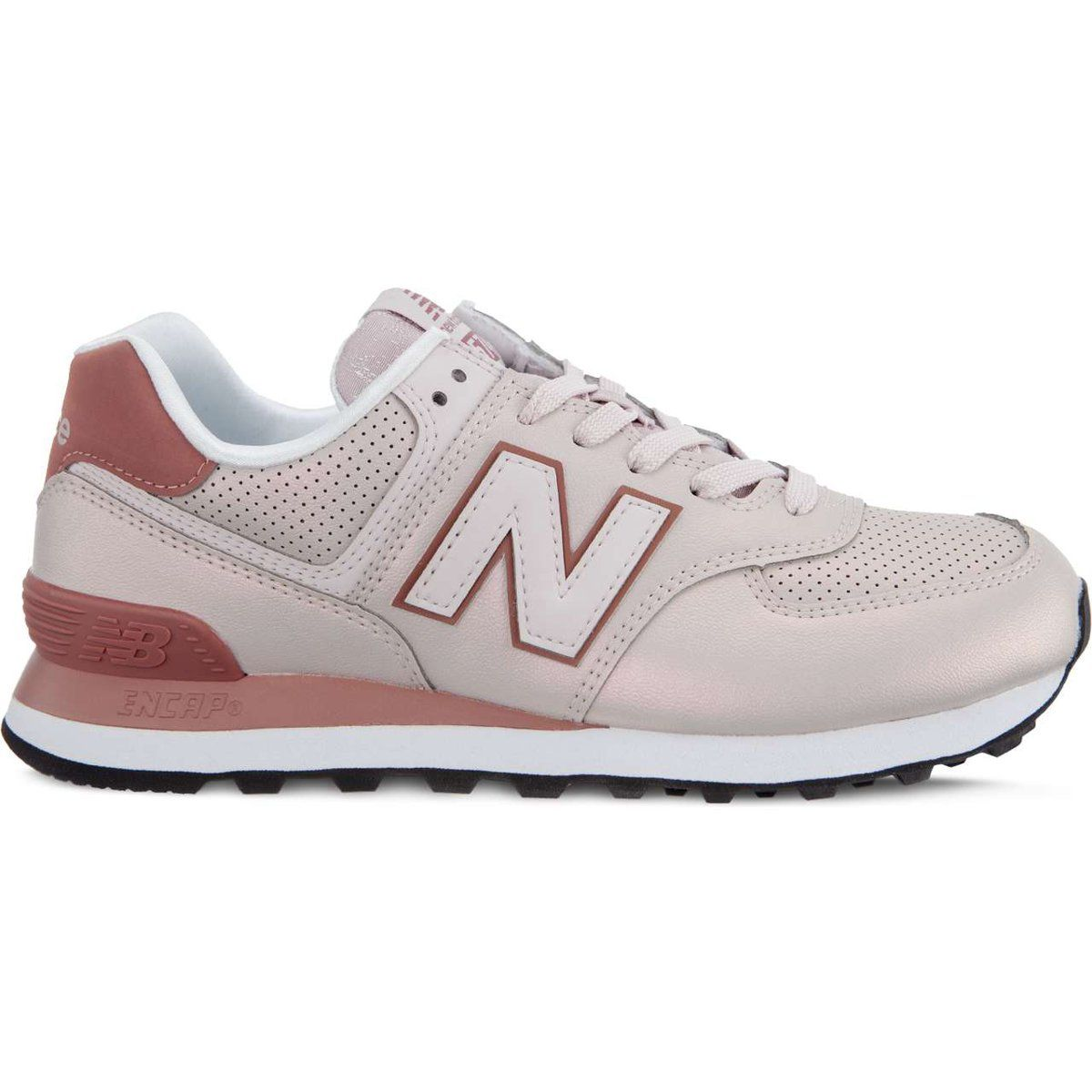 Sportowe Damskie Newbalance New Balance Wl574kse Sheen Pack Conch Shell With Dark Oxide New Balance New Balance Sneaker Shoes