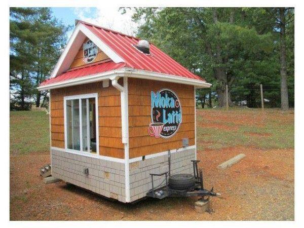 Coffee Huts As Tiny Houses Tiny House Blog Mobile Coffee Shop Coffee Trailer Coffee Shop Business