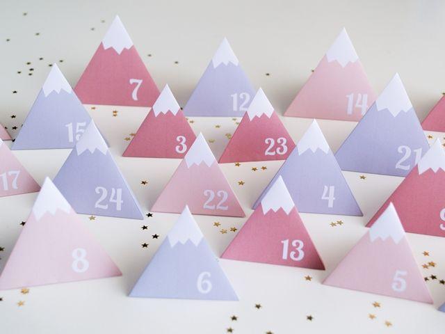 5 calendriers de l'avent DIY 2015 Calendrier de l'avent