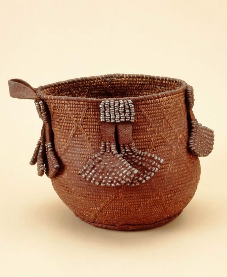 African Woven Baskets: Basket From The Ovahimba People Of Namibia