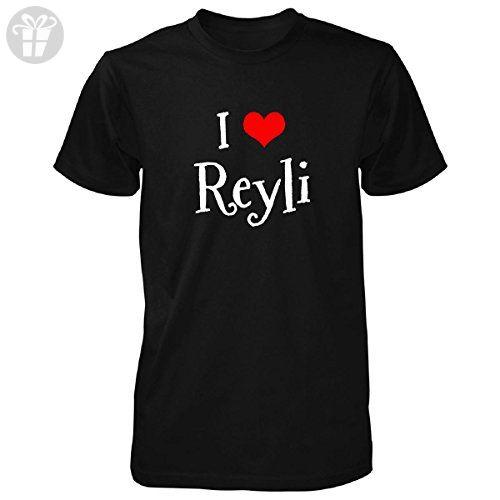 I Love Reyli Funny Gift Unisex Tshirt Black M Birthday Shirts
