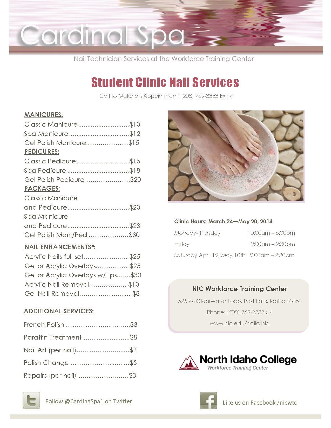 Menu of Nail Services Pretty Nails Spa manicure, Nail