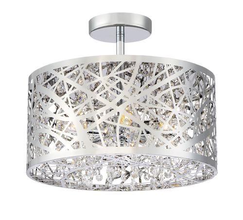 Patriot LightingR Elegant Home Braylen 5 Light Semi Flush Mount Ceiling At