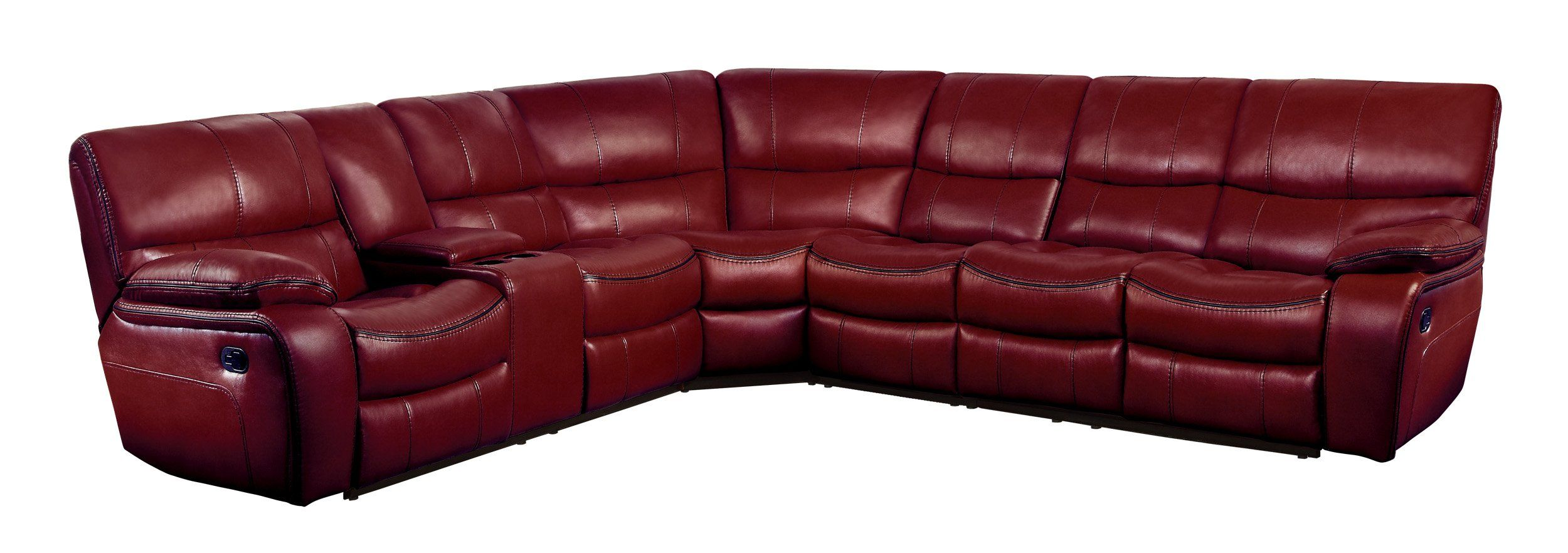Homelegance Pecos 4 Piece Reclining Sectional Sofa with Cup Holder