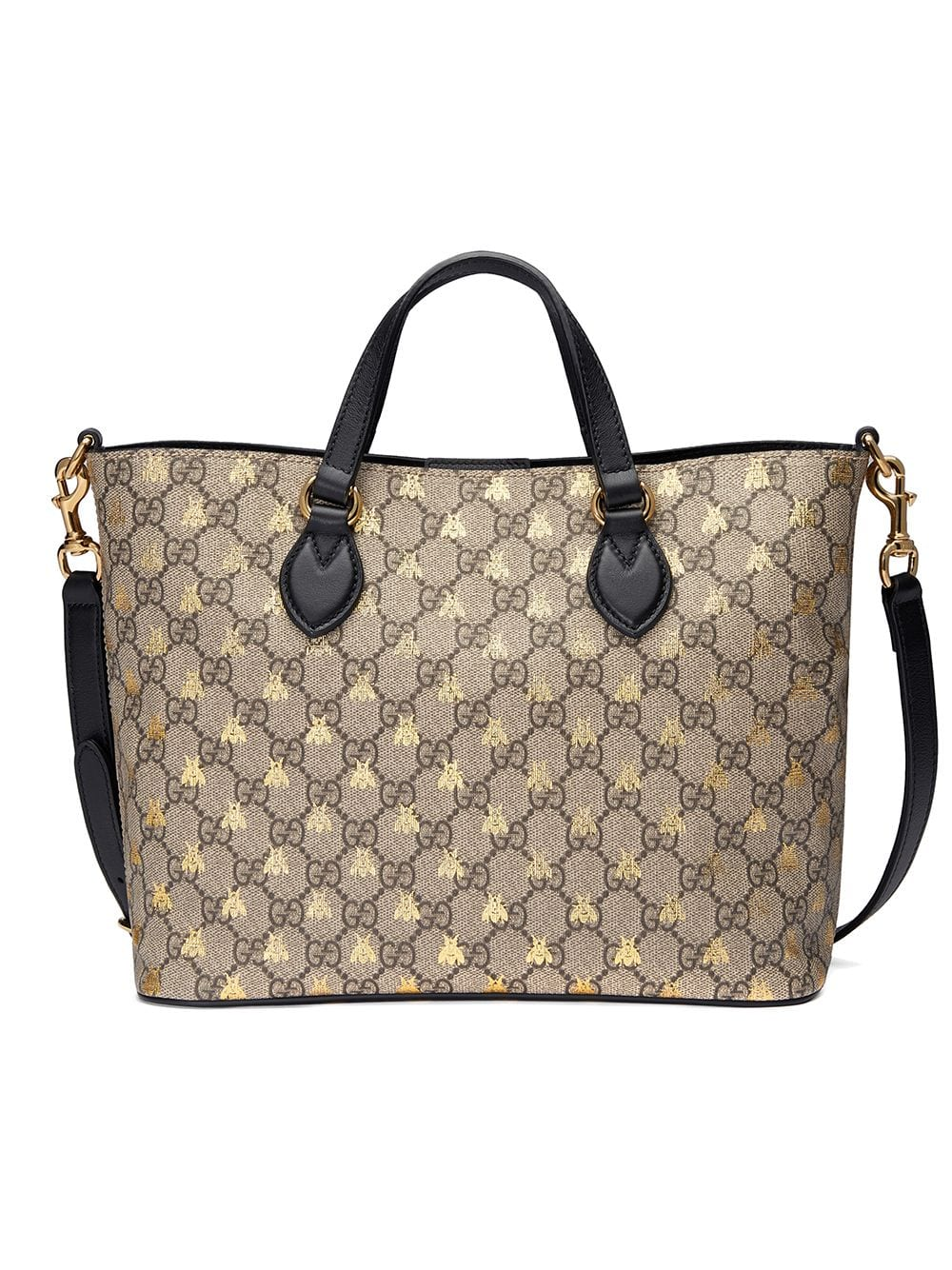 282fe64d3 Gucci GG Supreme bees tote - Neutrals in 2019   Products   Fabric ...