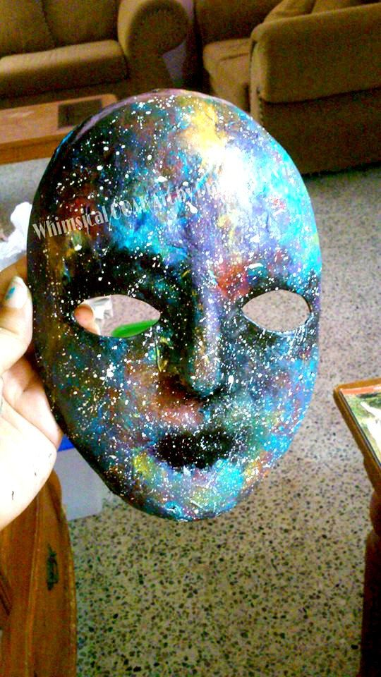 Galaxy Paper Mache Mask Astronomy Bookshelf Decor Cosmic
