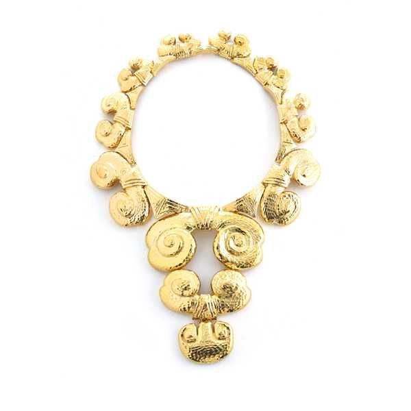 David Webb New York - Hammered 18K gold