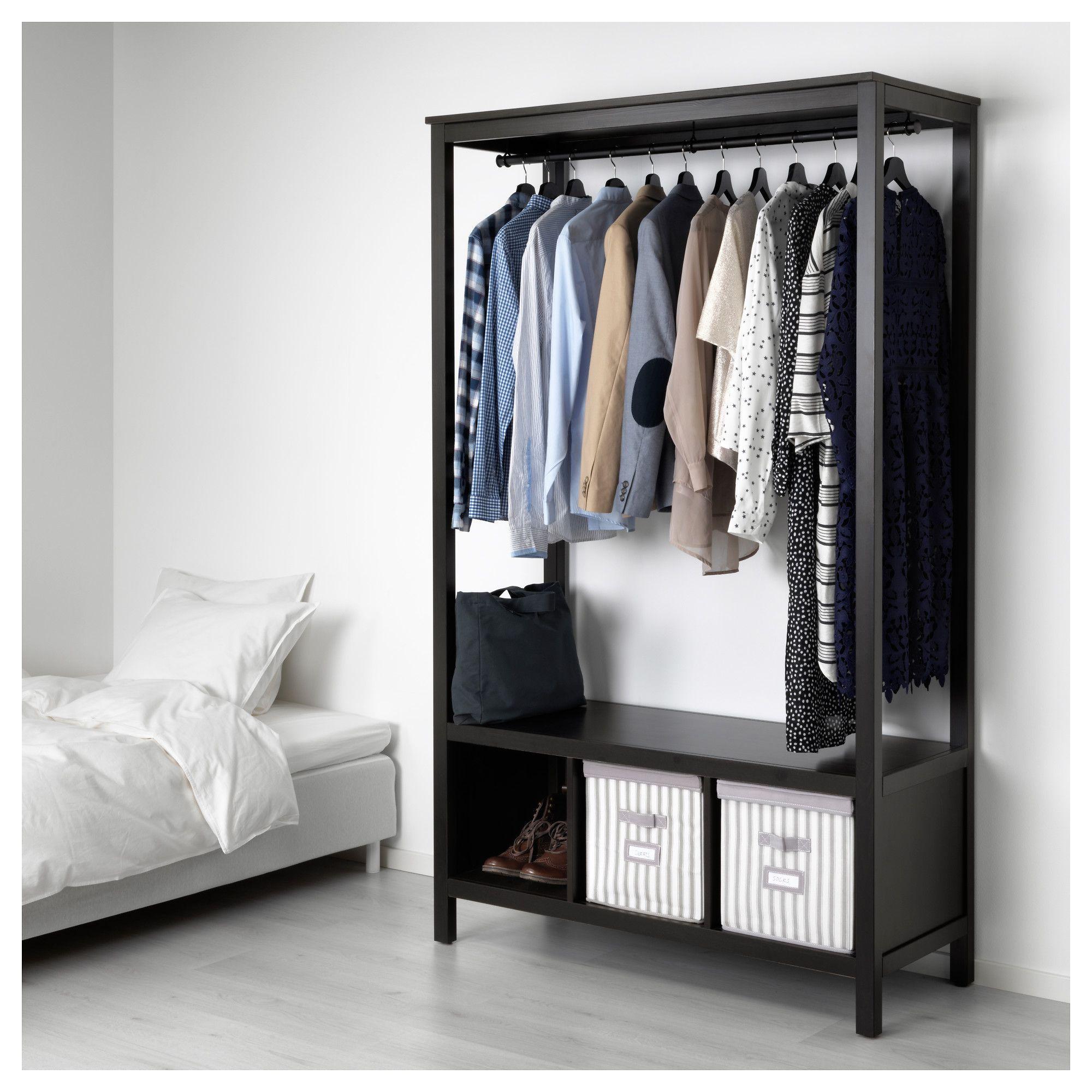 Ikea Hemnes Open Wardrobe Black Brown In 2019 Products